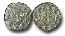 World Coins - ME1627 - MEDIEVAL ITALY, Kingdom of Sicily, Conrad I. (1250-1254) Billon Denaro, 0.94g., Brindisi mint
