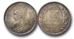 World Coins - EM643 - Great Britain, Victoria (1837-1901), Silver Sixpence, 1887