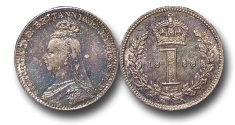 World Coins - EM604 - Great Britain, Victoria 		(1837-1901), Silver Maundy Penny,  1888