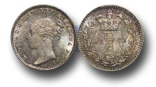 World Coins - EM386 - Great Britain, Victoria   (1837-1901), Silver Maundy Penny,  1873