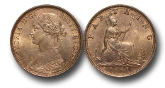 World Coins - EM337 -  	Great Britain,  Victoria   (1837-1901), Bronze Farthing, 1861