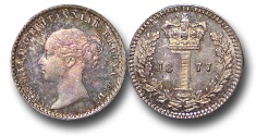 World Coins - EM630 - Great Britain, Victoria (1837-1901), Silver Maundy Penny,  1877