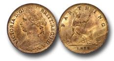 World Coins - EM118 - GREAT BRITAIN, Victoria   (1837-1901), Bronze Farthing, 1878