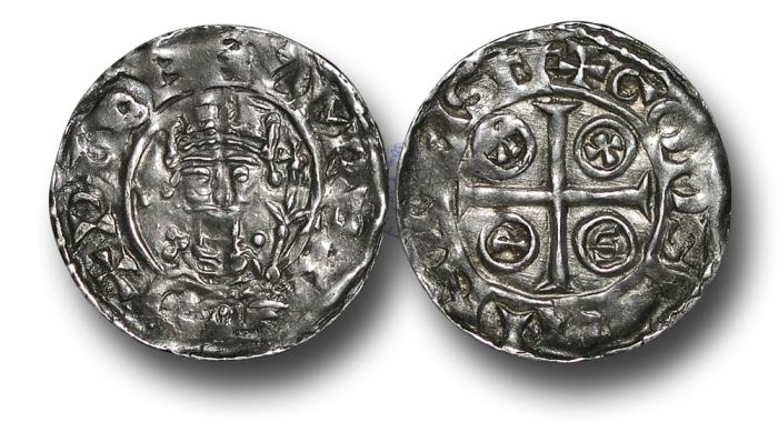 World Coins - H5304 - ENGLAND, NORMAN, William I (1066-1087), Penny, 1.40g., 20mm, PAXS type (c.1083-c.1086), Shaftesbury - Godsbrand. Rare Mint.