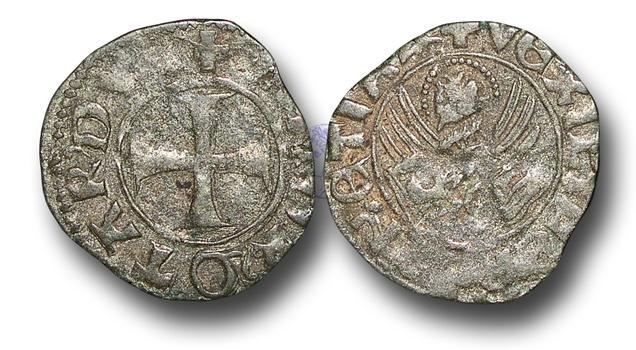 World Coins - CS85 - ITALY, Venice, Doge Andrea Contarini (1367-1382), Billon Tornesello