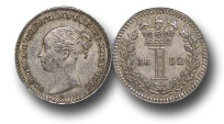 World Coins - EM434 - Great Britain, Victoria (1837-1901), Silver Maundy Penny,  1852
