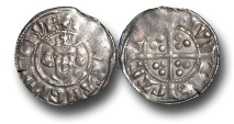 World Coins - EDW87 - England, Edward I (1272-1307), Penny, 1.41g., New coinage, class 4a (1282 to 1289), Canterbury mint