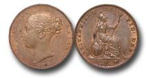 World Coins - EM322 -  Great Britain,  Victoria   (1837-1901), Copper Farthing, 1840