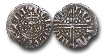 World Coins - H5411 - ENGLAND, Henry III (1216-1272), Penny, 1.19g., 18mm, Voided Long Cross Coinage, Class 3b, (1248-1250), Henri - Newcastle-upon-Tyne mint