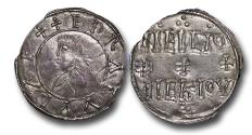 World Coins - TY16 - England, Anglo-Saxon, The Kingdom of Wessex, Edward the Elder (899-924), Silver Portrait Penny, 1.32g., 24mm, moneyer Heremod