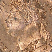 World Coins - JMS11 - GREAT BRITAIN, George IV (1820-1830), 1st issue, Copper Farthing, 1826 PCHS 64 RB BN