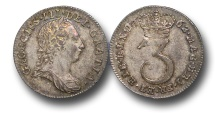 World Coins - EM399 - GREAT BRITAIN, George III (1760-1820), Maundy Silver Threepence, 1762