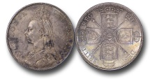 World Coins - EM622 - Great Britain, Victoria (1837-1901), Florin, 1887, Jubilee Head Coinage
