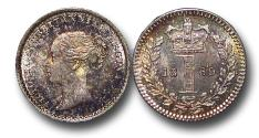 World Coins - MD1602 - Great Britain, Victoria (1837-1901), Silver Maundy Penny,  1869, UNC, TONED