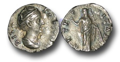 Ancient Coins - R1569 - The Deified Faustina Senior, Wife of Antoninus Pius (Died A.D. 141), Silver Denarius, 3.19g., Rome mint, struck after A.D. 147