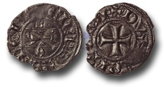 World Coins - SF11 - Anglo-Gallic, 	Aquitaine, Edward III (As Duke and King of England 1327-1377), Billon Denier au léopard, Ex Steve Ford Collection.
