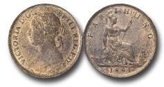 World Coins - EM642 - Great Britain, Victoria (1837-1901), Bronze Farthing, 1884
