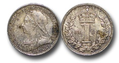 World Coins - EM573 - Great Britain, Victoria  (1837-1901), Silver Maundy Penny,  1899