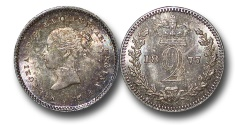World Coins - EM533 - Great Britain, Victoria   (1837-1901), Silver Maundy Twopence, 1877