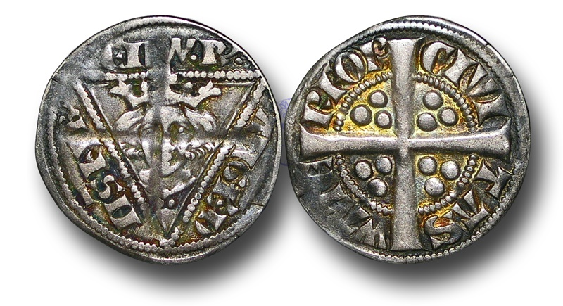 World Coins - GP4 - IRELAND, Edward I (1272-1307), Penny, 1.37g., 19mm, 2nd Coinage, Group Ib, Waterford mint