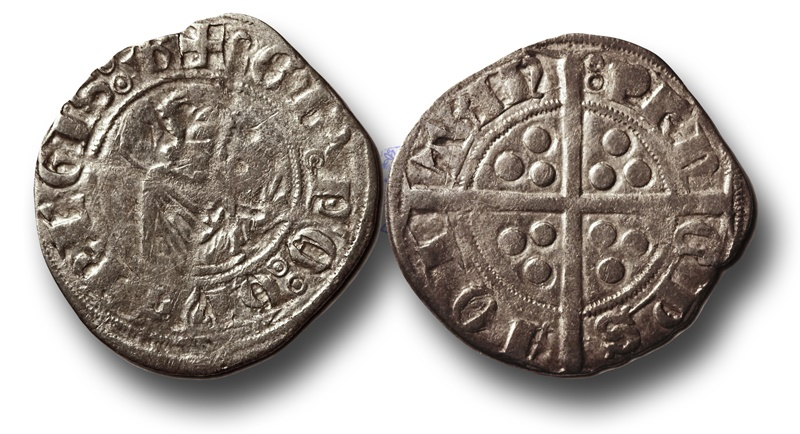 World Coins - SF19 - Anglo-Gallic, Aquitaine, Edward the Black Prince (Prince of Wales and Aquitaine 1362-1376), Silver Sterling