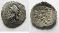 Ancient Coins - GREEK. Parthian Kingdom.  Mithradates I (c. 171-138 BC). AR Obol (12mm, 0.70g). Hekatompylos mint.