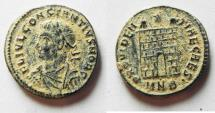 Ancient Coins - BEAUTIFUL AS FOUND CONSTANTIUS II AE 3