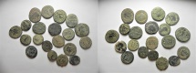 LOT OF 20 ROMAN AE COINS. NICE QUALITY AS FOUND