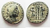 Ancient Coins - CONSTANTINE II AE 3 . DESERT PATINA