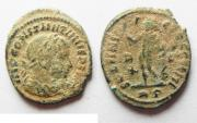 Ancient Coins - AS FOUND CONSTANTINE I AE FOLLIS. ROME MINT