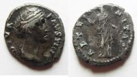 Ancient Coins - FAUSTINA I SILVER DENARIUS