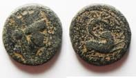 Ancient Coins - STAR OF BETHLEHEM: SYRIA, Seleukis and Pieria. Antioch. Civic Issues. Year 105 (56/57 AD). Æ 18mm