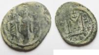 Ancient Coins - ARAB - BYZANTINE, TIBERIAS MINT, AE FALS