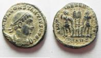 Ancient Coins - AS FOUND. CONSTANTIUS II AE 3 . NICE DESERT PATINA