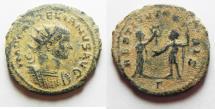 Ancient Coins - AURELIAN AE ANTONINIANUS. AS FOUND. NICE DESERT PATINA