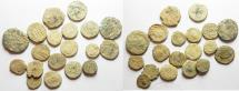 Ancient Coins - LOT OF 19 ROMAN AE COINS. AS FOUND