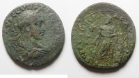 Ancient Coins - Roman Provincial. Cilicia, Aigeai under Severus Alexander (AD 222-235). AE 35mm , Unpublished
