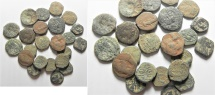 Ancient Coins - LOT OF 23 NABATAEAN BRONZE COINS AS FOUND