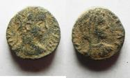 Ancient Coins - DECAPOLIS. PHILADELPHIA. ELAGABALUS AE 12