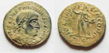 Ancient Coins - CHOICE AS FOUND. CONSTANTINE I AE FOLLIS