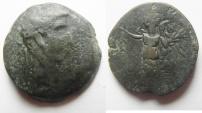 Ancient Coins - Egypt. Alexandria under Augustus (27 BC-AD 14). AE diobol (24mm , 11.32g). Struck in regnal year 42 (AD 11/12).