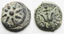 Judaea, Alexander Jannaeus, 103-76 BC, AE Prutah . Widow's Mite