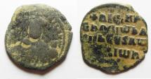 Ancient Coins - 	BYZANTINE EMPIRE. Anonymous AE Follis. CHRIST