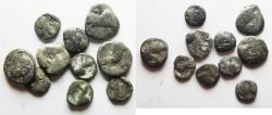 Ancient Coins - ARABIA, Southern. Saba'. Late 4th–mid 2nd centuries BC. AR LOT OF 10 COINS.