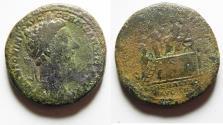 Ancient Coins - Marcus Aurelius. AD 161-180. Æ Sestertius