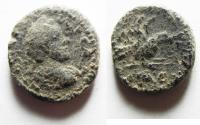 Ancient Coins - AS FOUND: JUDAEA, Aelia Capitolina (Jerusalem). Antoninus Pius. CE 138-161. Æ 17