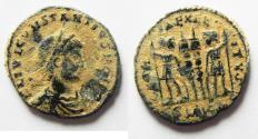 Ancient Coins - ORIGINAL DESERT PATINA: CONSTANTIUS II AE 3