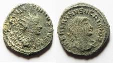 Ancient Coins - AS FOUND. AURELIAN & VABALATHUS AE ANTONINIANUS