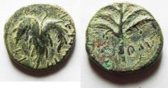 Ancient Coins - AS FOUND: JUDAEA. Bar Kochba Revolt. 132-135 CE. AE 24MM .