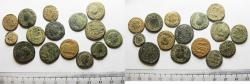 Ancient Coins - ROMAN IMPERIAL. LOT OF 15 BRONZE COINS. AS FOUND